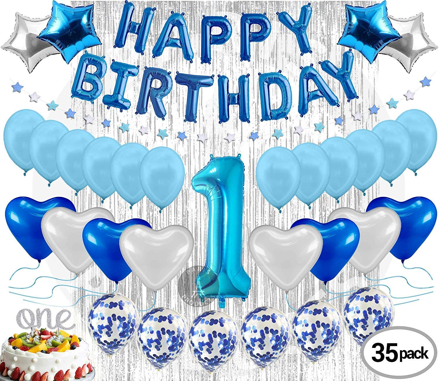 Blue Cake Smash Kit  First Birthday  Cake Smash Prop  Blue Cake Smash Kit  One Today  Blue and Gold Decor
