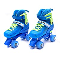 IRIS Roller Skates for Kids, PP and PVC Wheel with LED Lights Adjustable Double Row Skate Rollerblades for Beginners/Children/Boys/Girls (Small)