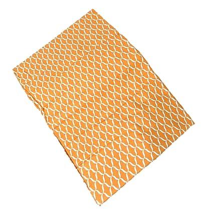 Raymond Waites Tablecloth Oblong Orange Geometic Print 60 By 84