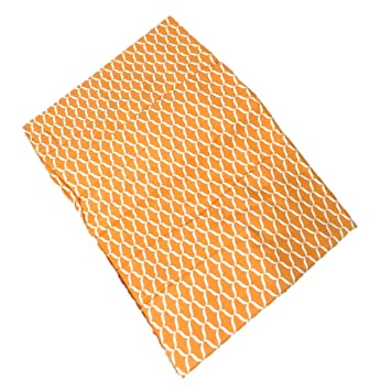 High Quality Raymond Waites Tablecloth Oblong Orange Geometic Print 60 By 84