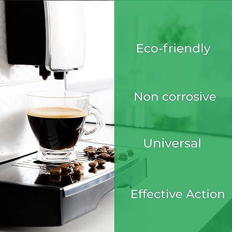 EcoDescalk, 2 x 6 descalcificaciones. Descalcificador para Todas Las Cafeteras. Todas Las Marcas, Bosch, Nespresso, Krups, DeLonghi, Tassimo.Producto CE.
