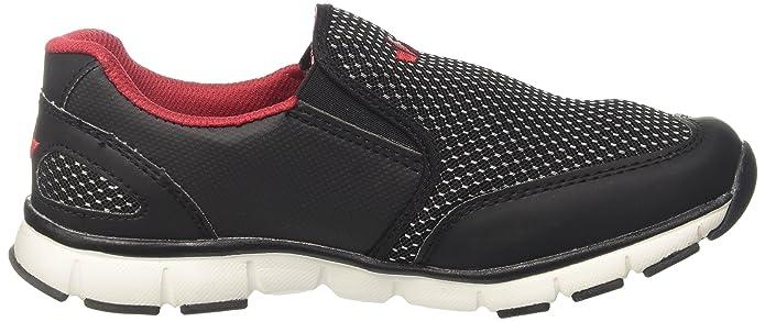 Geka James, Sneaker Infilare Uomo, Nero (Schwarz/Rot Schwarz/Rot), 42 EU