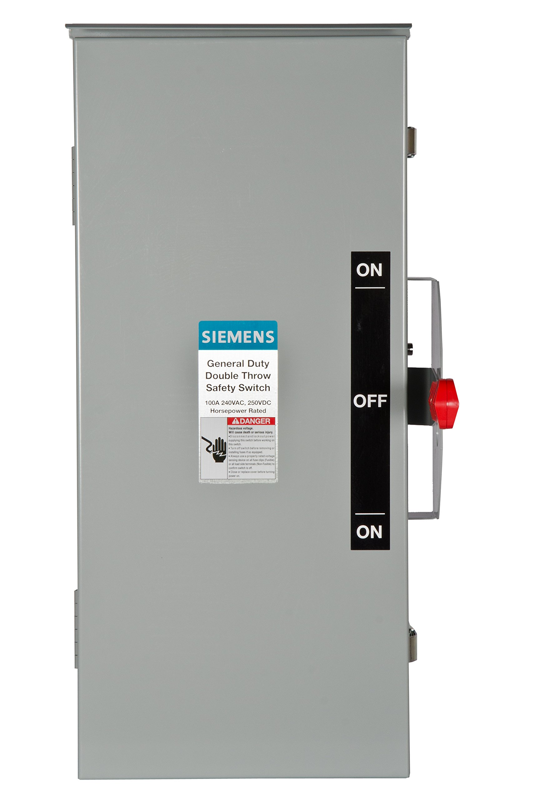 Siemens DTGNF323R 100-Amp, 3 Pole, 240-volt, 3 Wire, Non-Fused General Duty, Double Throw, Type 3R