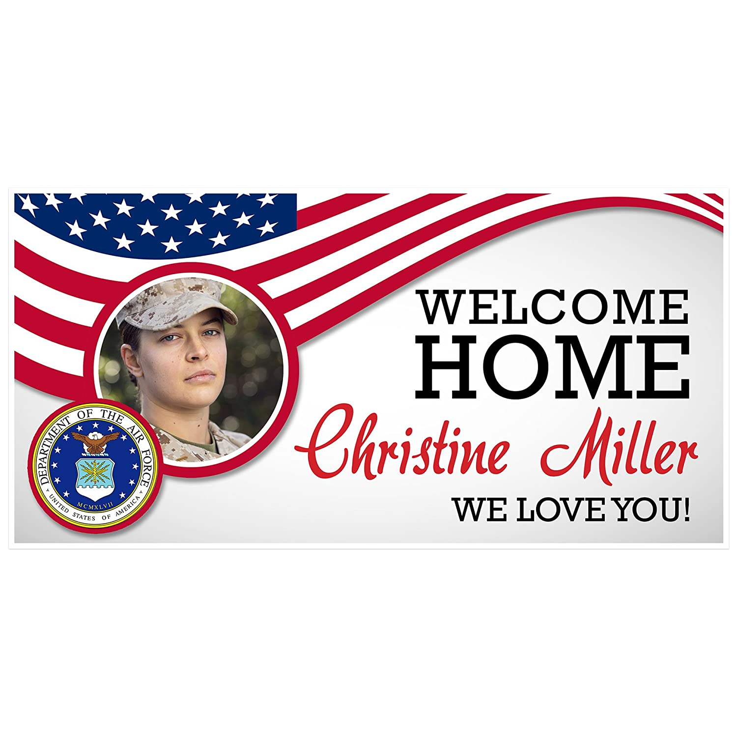 Personalized Welcome Home Air Force Military Banner
