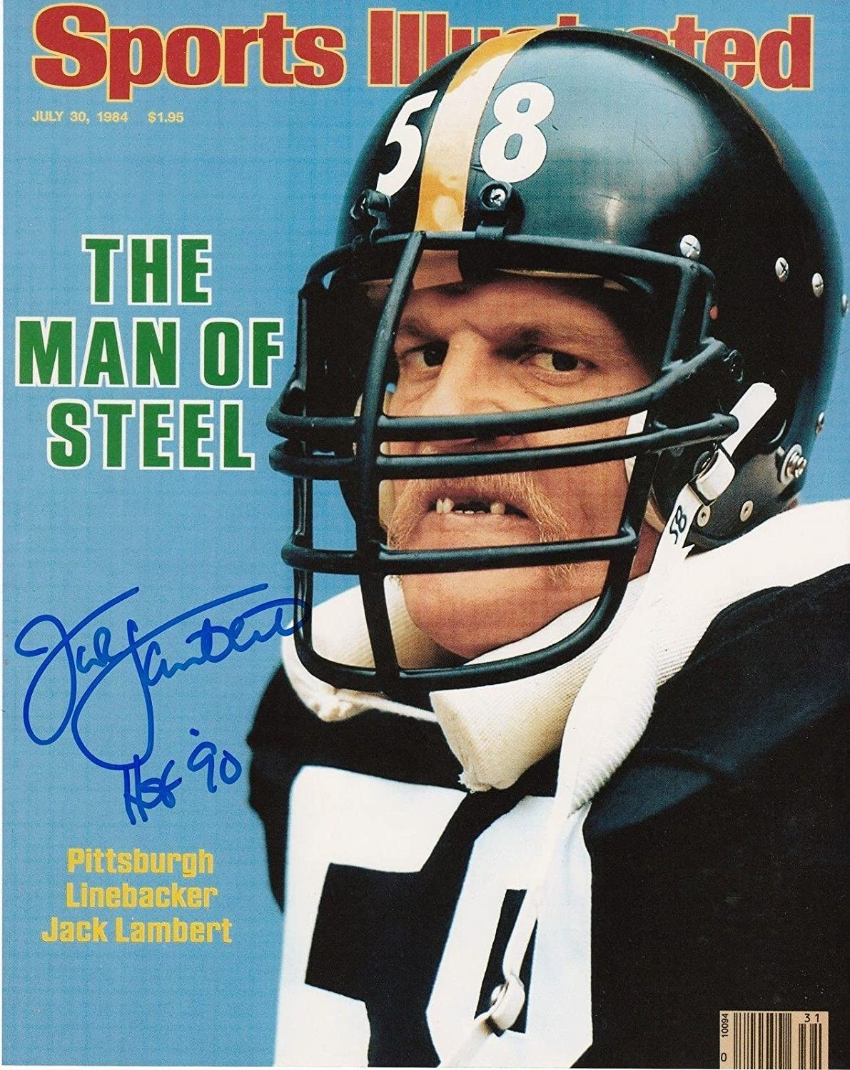 2d7aa2310 Jack Lambert Signed Photograph - HOF 90 SPORTS ILLUSTRATED COVER 8x10 -  Autographed NFL Photos at Amazon s Sports Collectibles Store