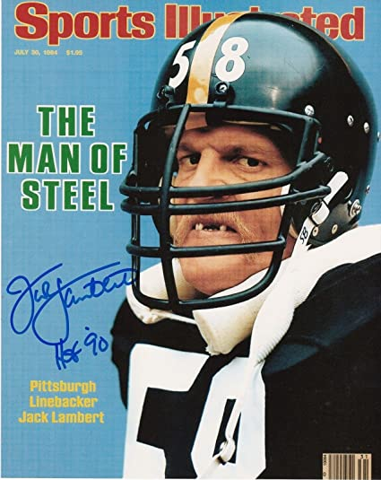 cab5b6d2879 Jack Lambert Signed Photograph - HOF 90 SPORTS ILLUSTRATED COVER 8x10 -  Autographed NFL Photos
