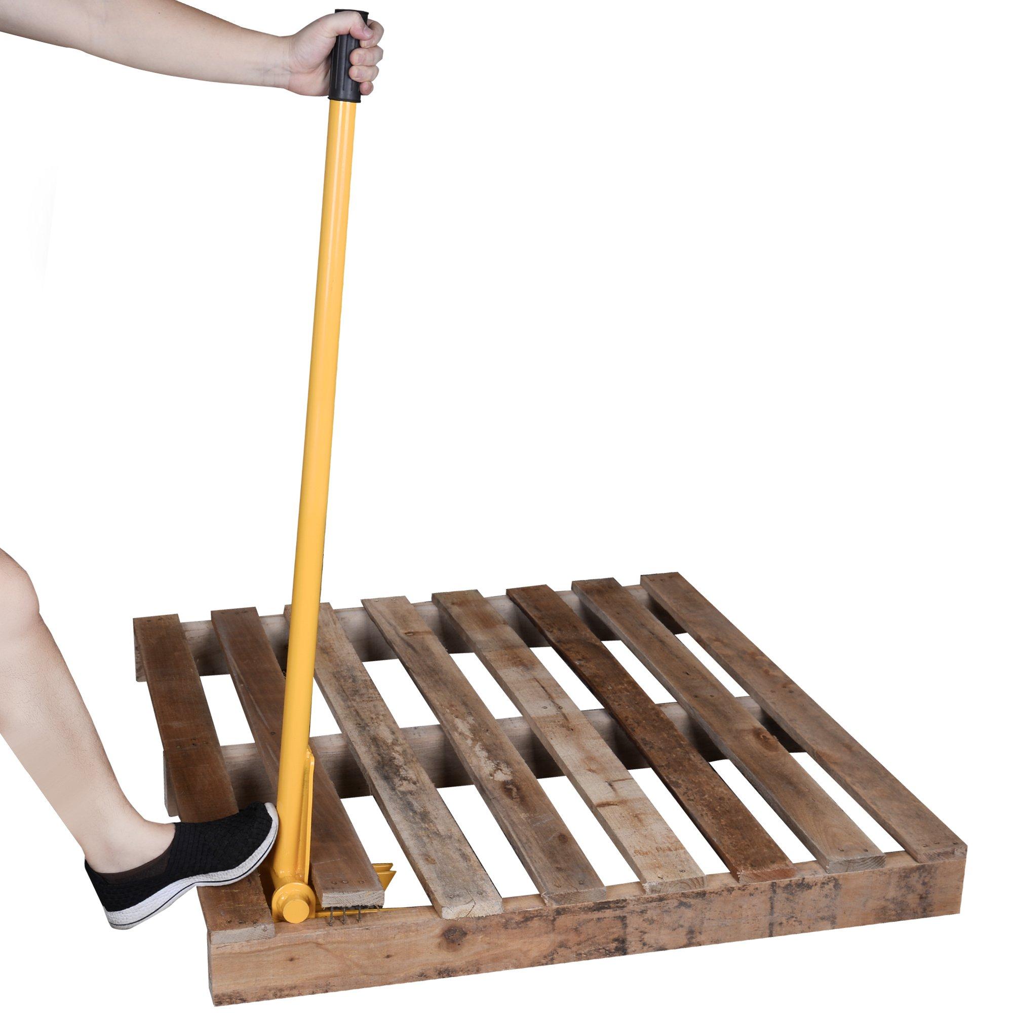 TIME SAVER - Pallet Buster Industrial Pry Bar For Easy Wood Pallet Destruction and Dismantler Premium Global Wood Breaker For Logistics Shippers Warehouses Anti Slip Grip Handles 41'' BL by 12Vmonster (Image #5)