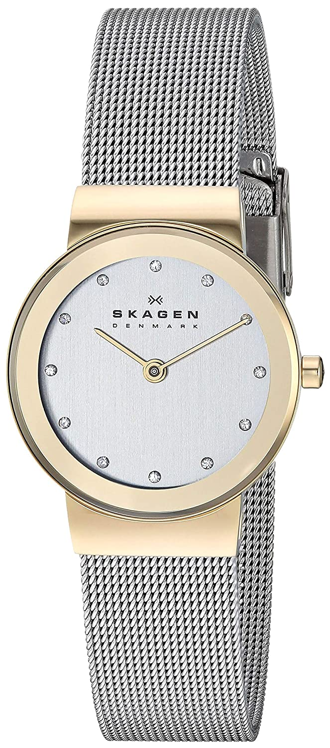 Skagen Women's Freja Quartz Two-Tone Stainless Steel Casual Watch, Color: Gold and Silver-Tone (Model: 358SGSCD)