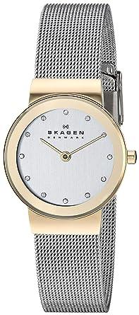 Skagen Reloj con Correa de Metal, para Mujer Slimline Bicolor 358SGSCD: Skagen: Amazon.es: Relojes