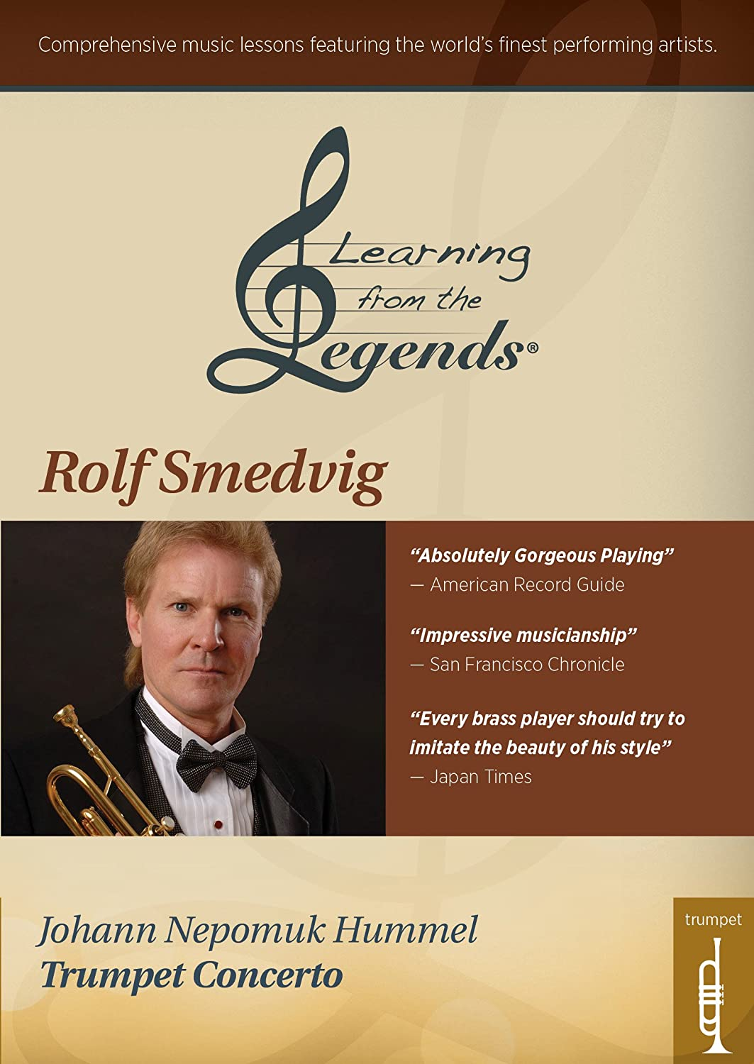 Learning From the Legends: Hummel's Trumpet Concerto featuringRolf Smedvig [DVD] [Import] B017AVXQGG