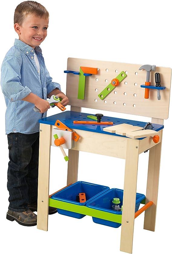 KidKraft 63329 Banco de carpintería de madera para niños Deluxe ...