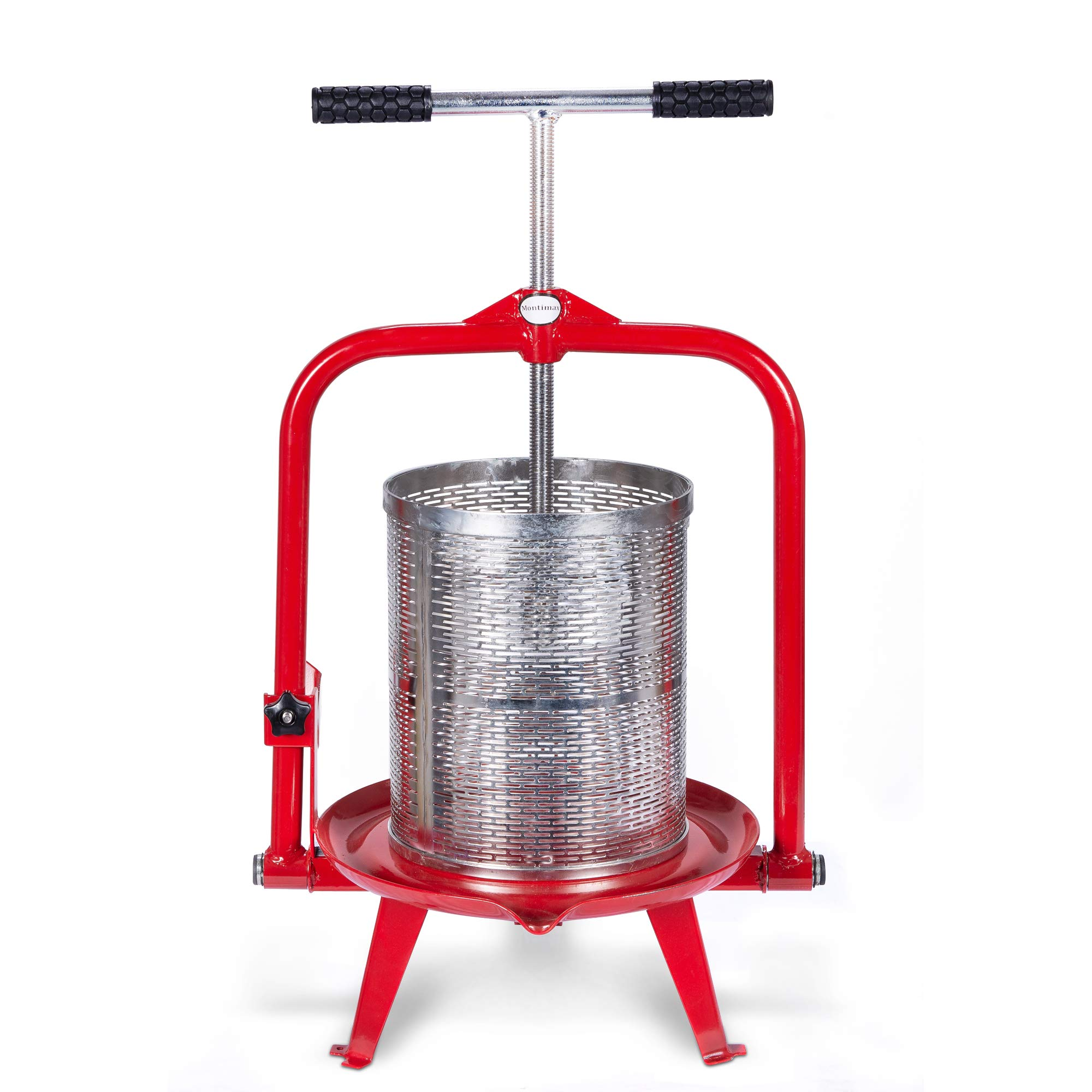 14 Liter (3.75 Gallon) Fruit Press - New Larger Stainless Pressing Plate - Cider, Wine, Grape, Apple Press, For Apple Cider, Wine and Juice Making, Stainless Steel, Choose Size by Montimax by Montimax By Green Max Products (Image #1)
