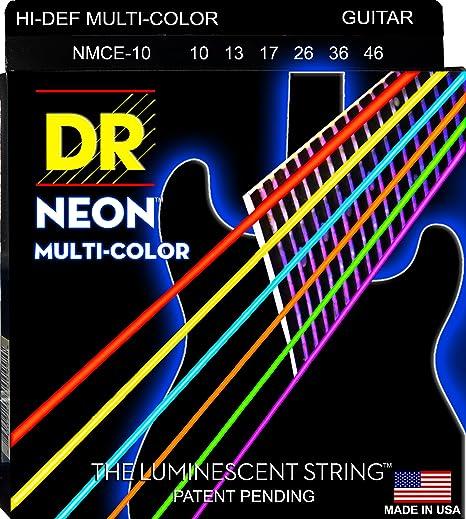 DR NEON Hi-Def MULTI-COLOR Medium · Cuerdas guitarra eléctr.