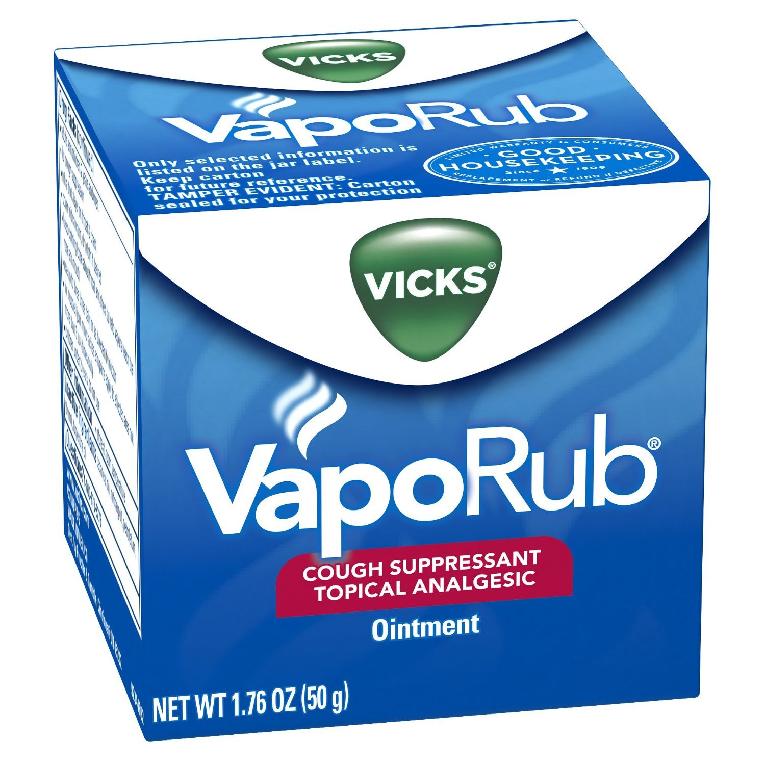 Vicks VapoRub Topical Ointment Chest Rub 1.76oz - (2 PACK)