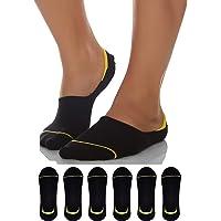 Sockyfy Unisex Socks- Invisible Socks or No Show Socks for Men and Women Free Size - Pack of 6 - Black