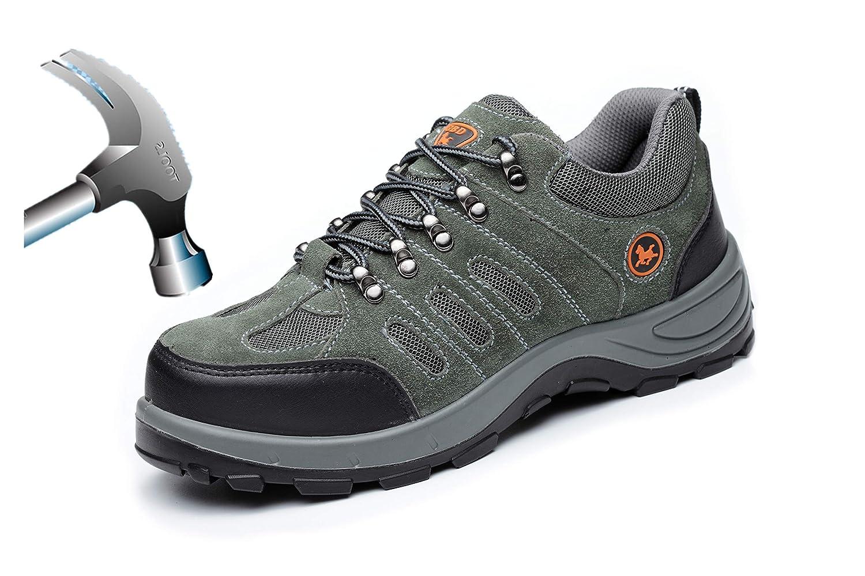 Aizeroth-UK Chaussure piqûres de Sécurité S3 Respirant S3 Industrie Chaussure de Travail Embout de Protection en Acier Semelle de Protection Anti-Collision Prévention des piqûres Bottes Baskets Chantiers et Industrie Vert ac1a2e0 - boatplans.space