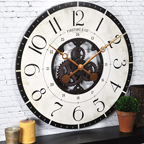 FirsTime Co. Carlisle Gears Wall Clock, 27 , Multicolor