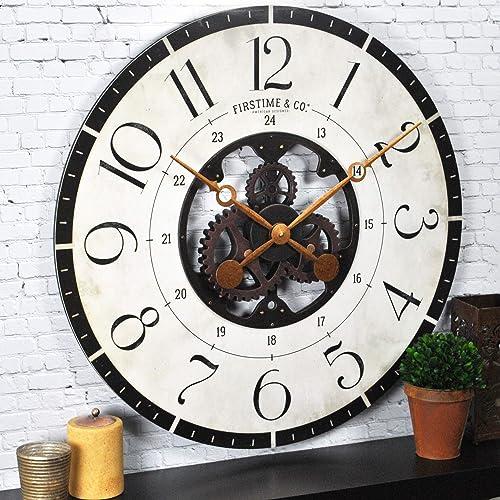 FirsTime Co. Carlisle Gears Wall Clock, 27 , Multicolor