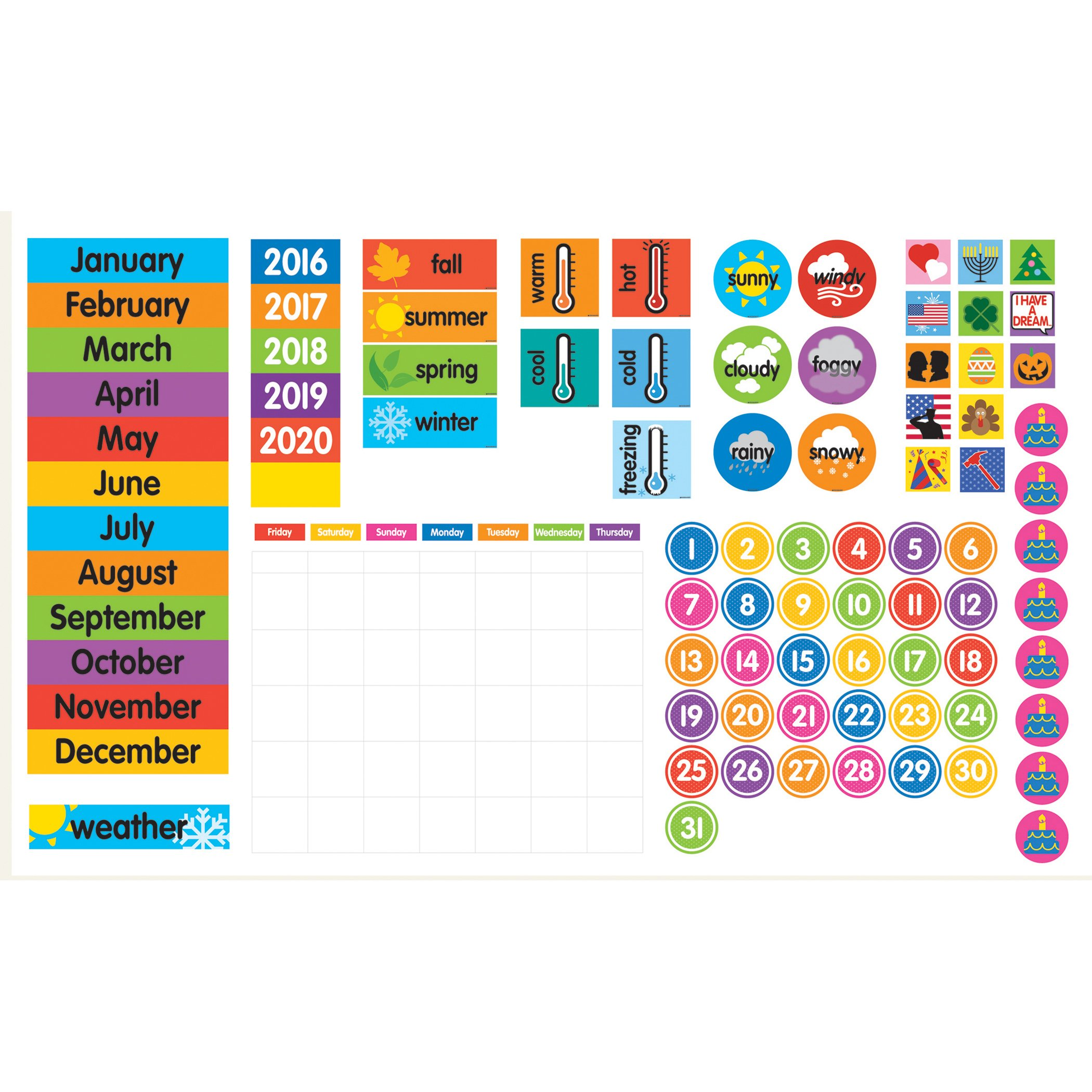 Dowling Magnets Magnet Tools Giant Magnetic Calendar Set