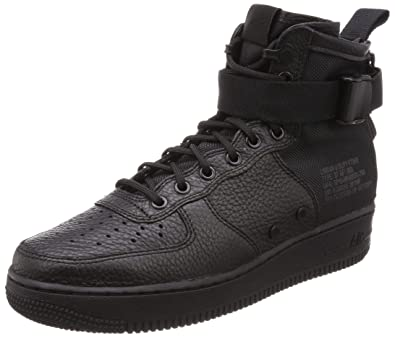 pretty nice 74817 f3687 Nike SF AF1 Air Force MID Big Kids Shoes Black aj0424-003 (3.5 M