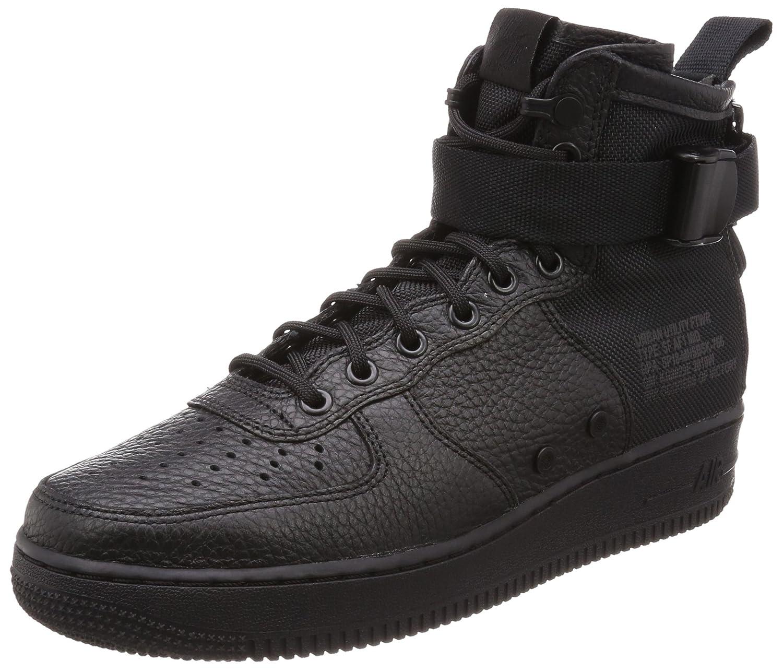 Nike Herren SF Air Force 1 Mid Schwarz Leder Synthetik Turnschuhe B078NWY1CV | eine große Vielfalt