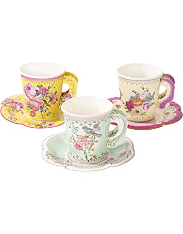 dd8c19a4c6 Talking Tables TS6-CUPSET-VINTAGE Truly Scrumptious Party Vintage Floral Tea  Cups and Saucer