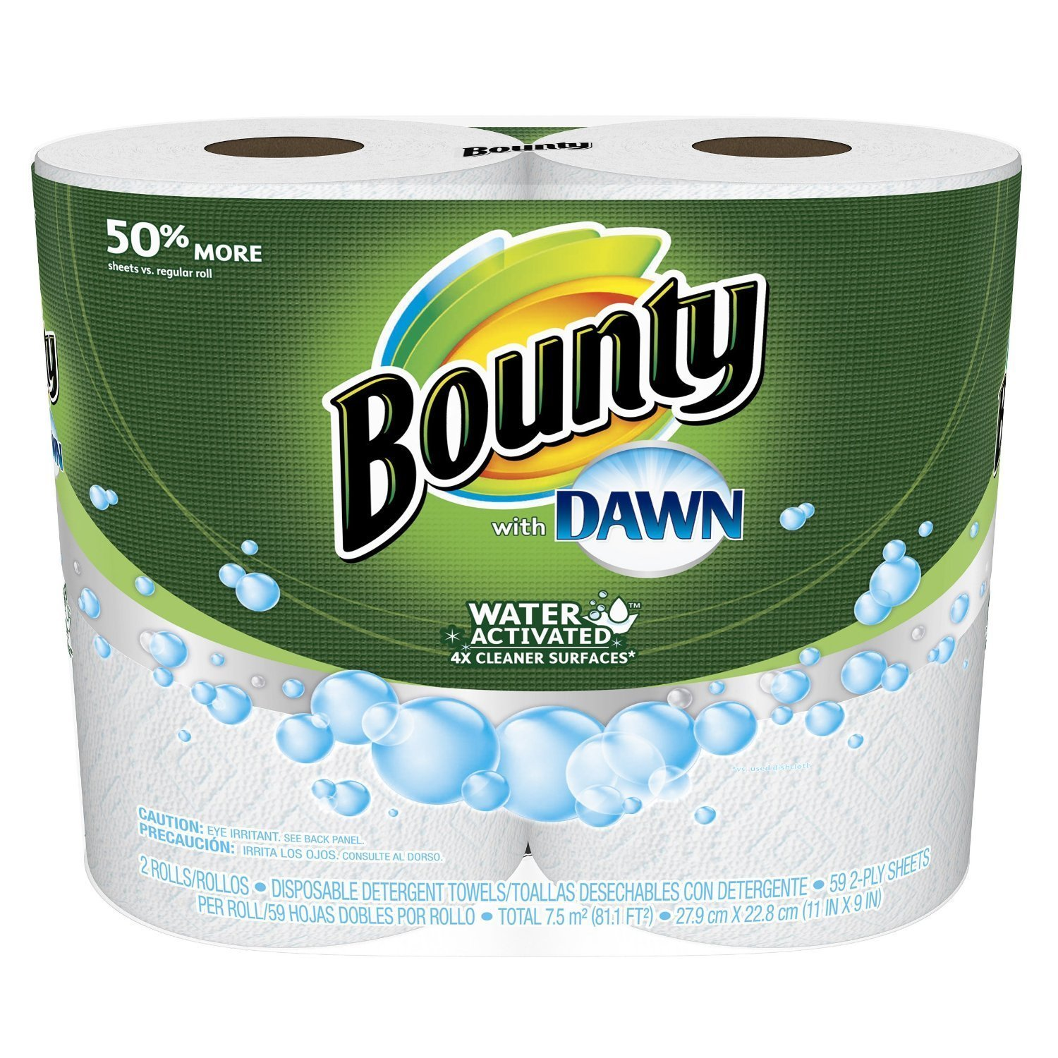 Amazon.com : Bounty with Dawn Giant Rolls, White, 2 Count (Pack of 4) : Grocery & Gourmet Food