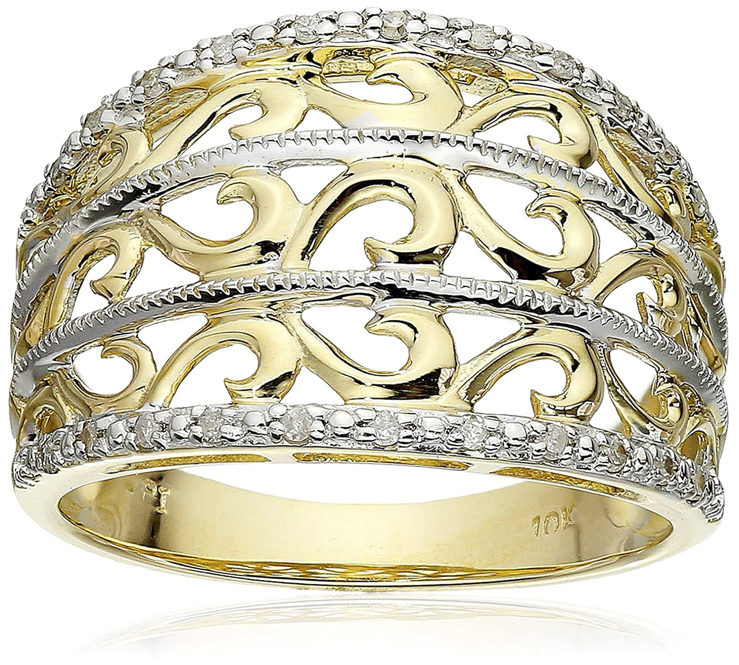 gold wedding irish wide rings dome livia ring