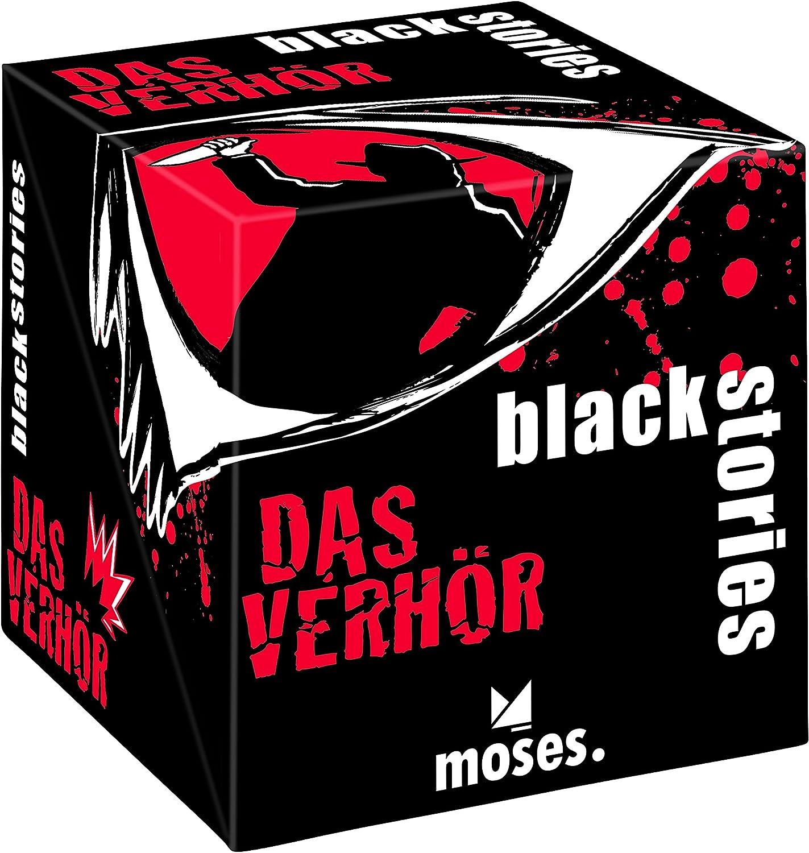 moses. 90016 – Juego de Cartas – Black Stories – El verhör: Krenner, Johannes: Amazon.es: Juguetes y juegos