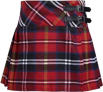 Alvivi Falda Mini del Verano Escocesas a Cuadros de Escocia Falda ...
