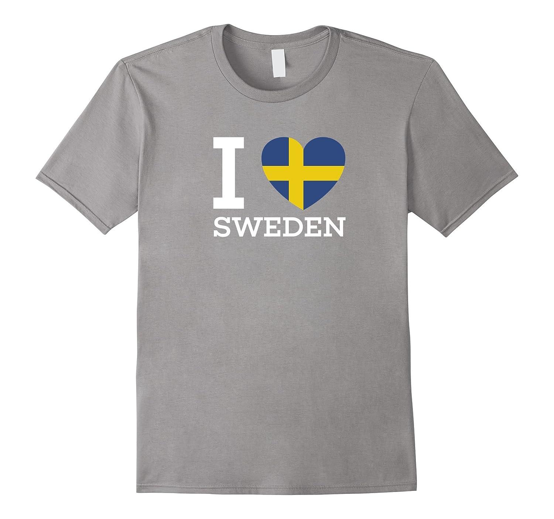 I Love SWEDEN Flag Heart special T Shirt-CD