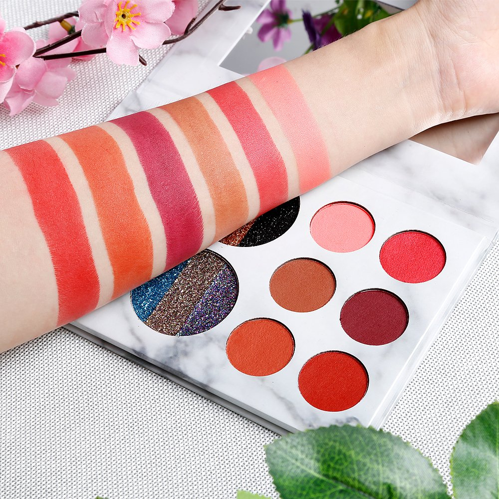 DE'LANCI Eyeshadows Palette Makeup,4 Creamy Mixed Glitter and 6 Matte Shades Insanely Pigmented Cosmetic Eye Shadows Set for Party and Daily Use by DE'LANCI (Image #6)