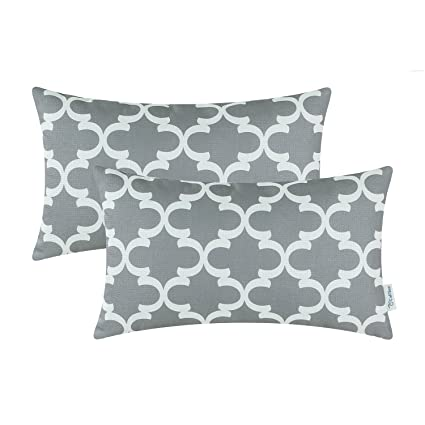 7d3695a8ceb Amazon.com: CaliTime Pack of 2 Soft Canvas Bolster Pillow Covers ...
