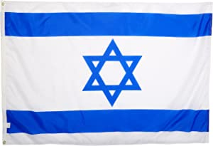 US Flag Store Israel 4ft x 6ft Nylon Flag - Outdoor