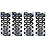 Scunci Black Contour Snap Clips, 48 Count (4 x 12 Count Packages)