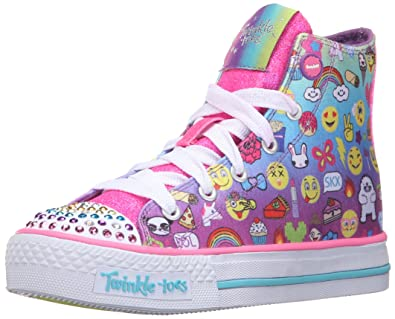 Skechers Shuffles Chat Time, Girls' Low-Top Sneakers, Multicolore (Mlt  Multicouleur