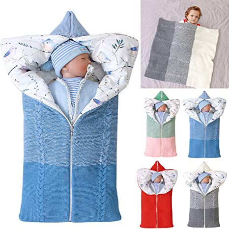 Saco de dormir para cochecito de bebé recién nacido, tejido