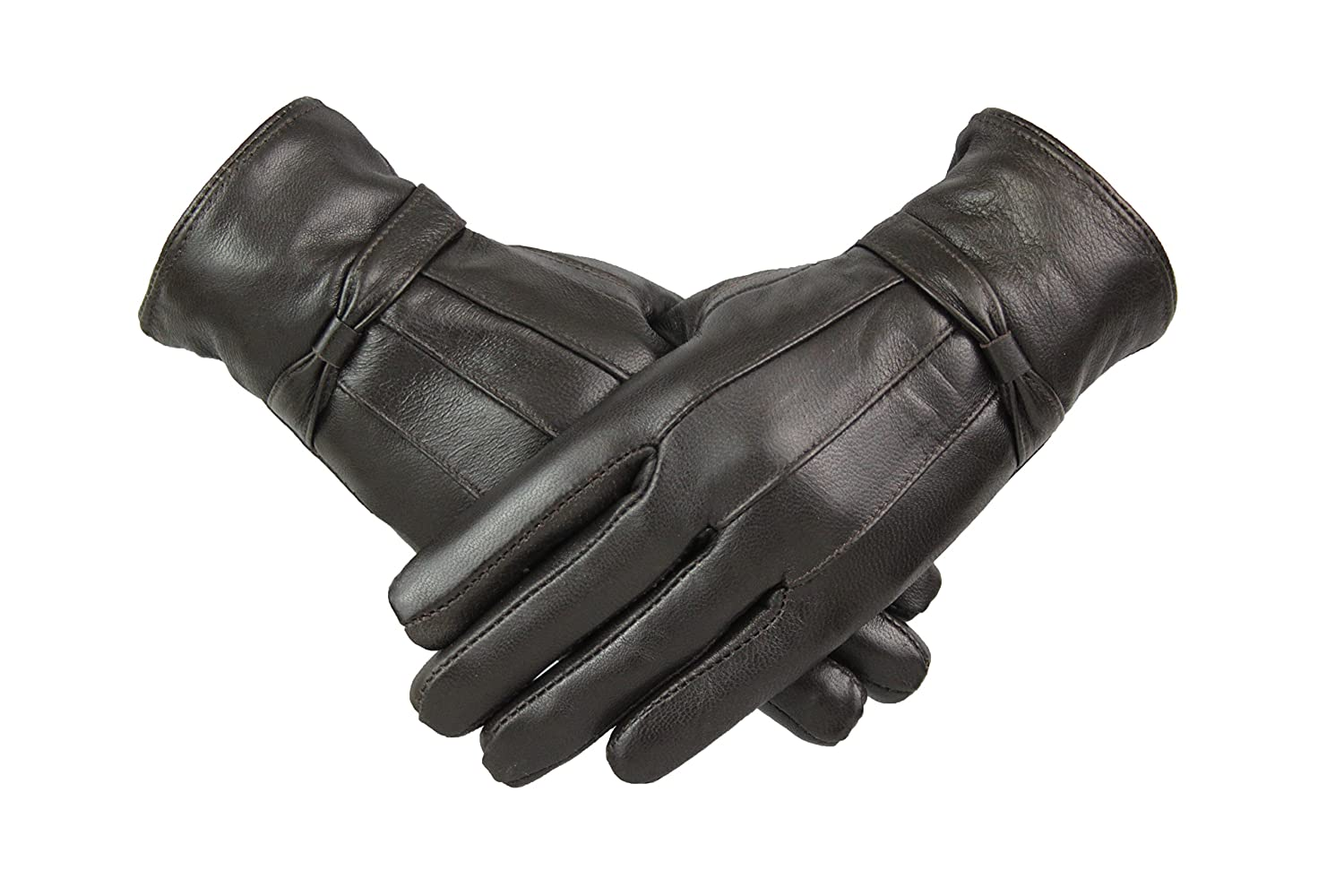 Womens Ladies Leather Gloves With Bow Design Warm Winter Fleece Lined All Size M L XL Christmas Gift