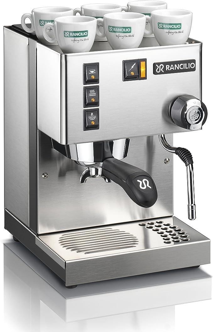Rancilio Silvia - Cafetera espresso, color plateado: Amazon.es: Hogar
