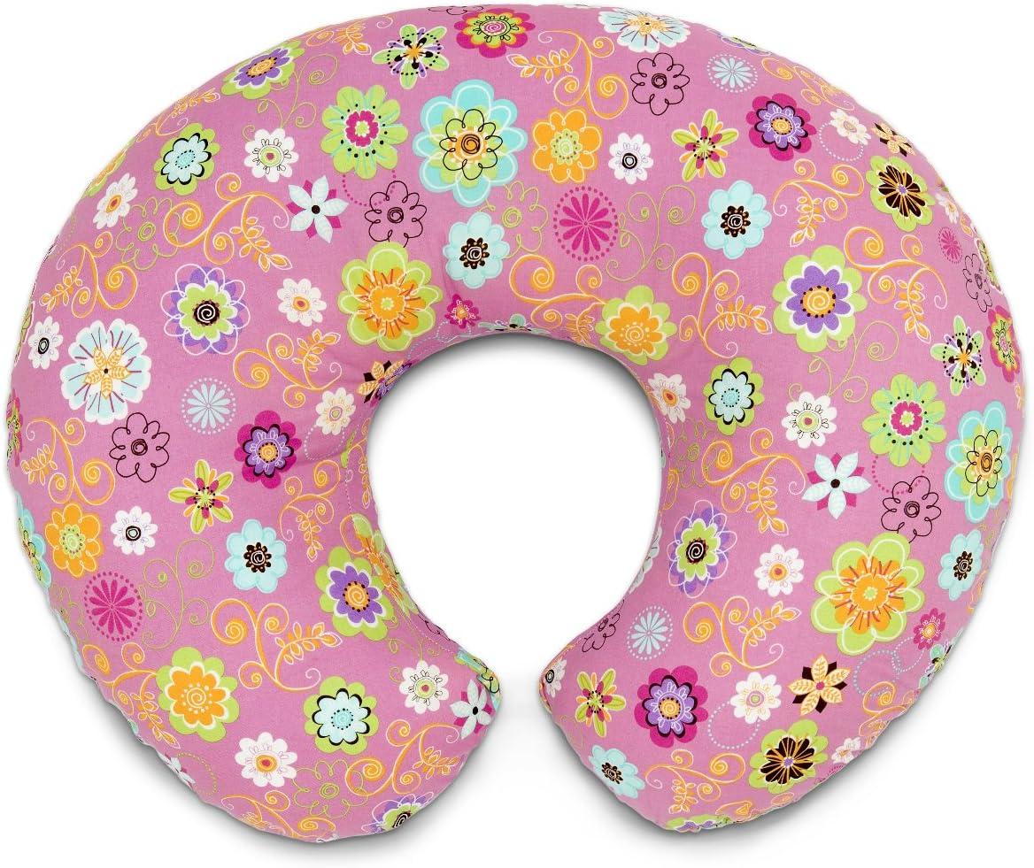 Chicco Boppy- Cojín de lactancia algodón, ergonómico, indeformable y optima adaptabilidad, de 0 a 12 meses, color rosa Wild Flowers