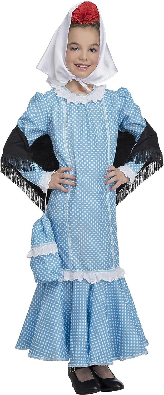 Disfraz de Madrileña Chulapa Azul (10-12 años): Amazon.es ...