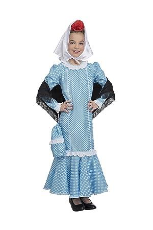 Disfraz de Madrileña Chulapa Azul (3-4 años)