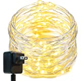 Oak Leaf LED String Lights,33 ft 100 LEDs Starry Decorative Lights for Bedroom,Wedding,Patio,Gate,Party, 3V Power Adapter,Warm White