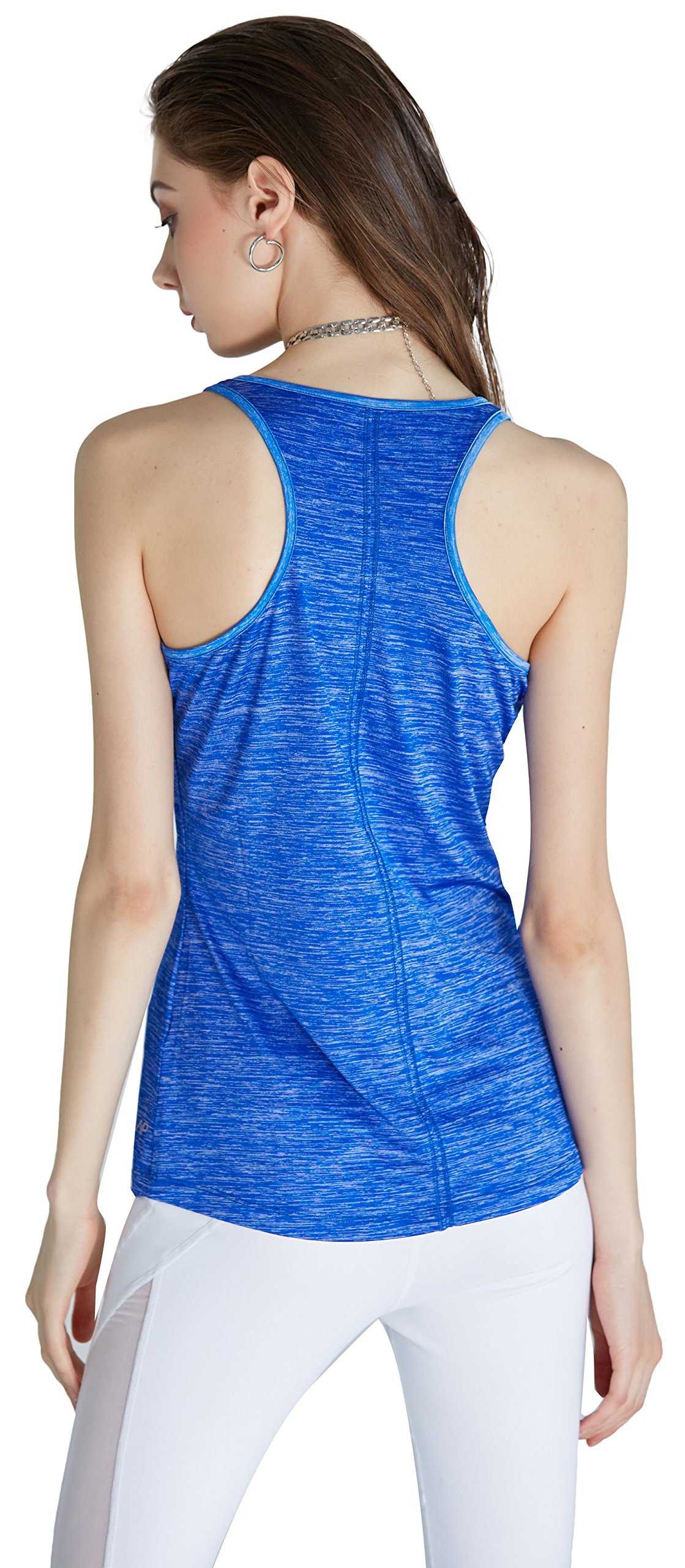 SPECIAL MAGIC Women\'s Active Sleeveless Racerback Lightweight Yoga Camisole Flowy Tank Top Royal Blue M