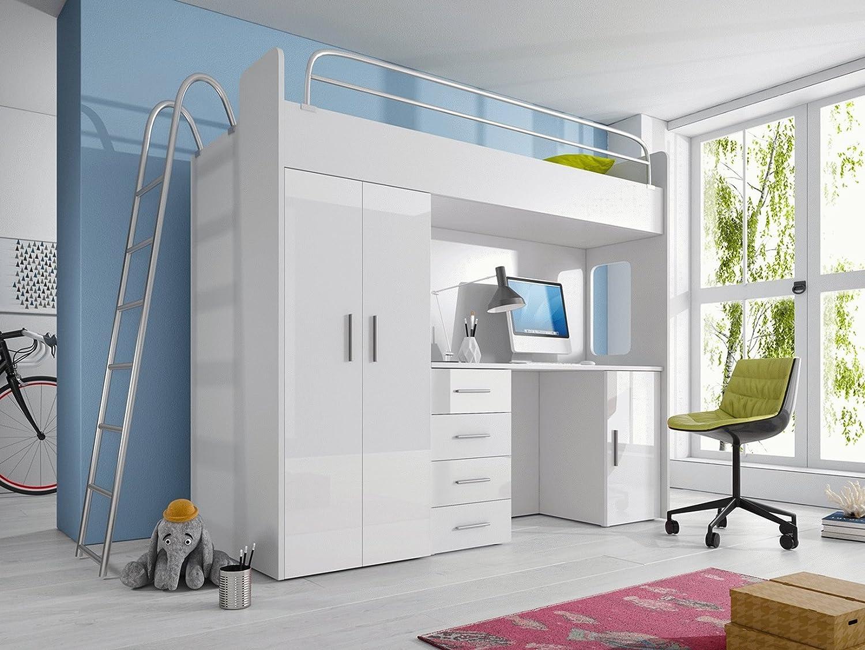 Furnistad Kinderzimmer Komplett Smart   Kinder Hochbett mit Leiter ...
