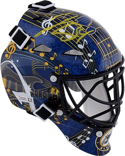 Amazon Com Jake Allen St Louis Blues Autographed Replica Mini Goalie Mask Autographed Nhl Helmets And Masks Sports Collectibles