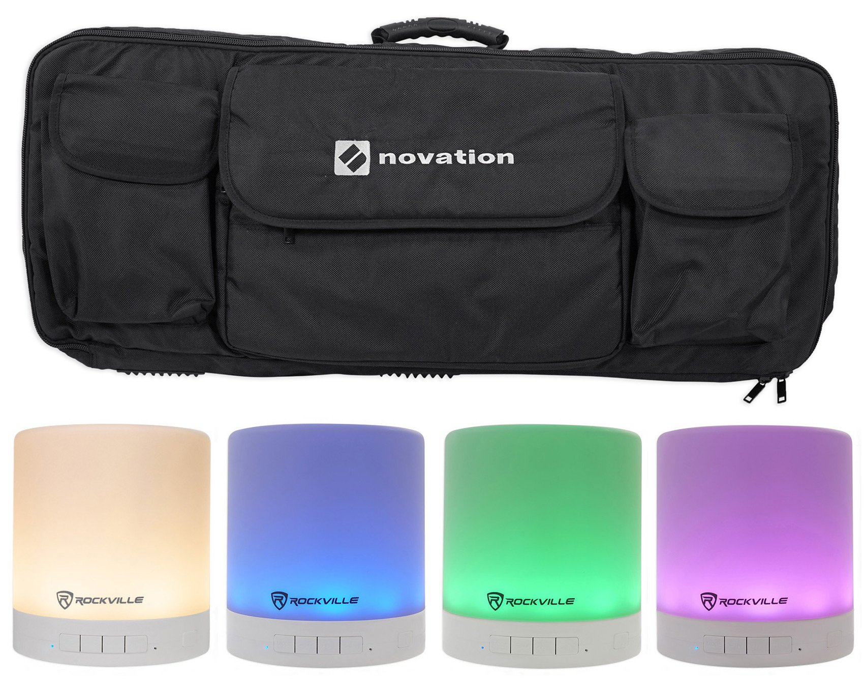 Novation 49-Key Case Carry Bag 4 Launchkey 49 MIDI Controller Keyboards+Speaker