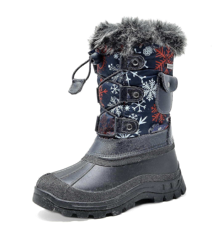 Dream Pairs Boys Girls Child Ksnow Mid Calf Waterproof Winter Snow Boots