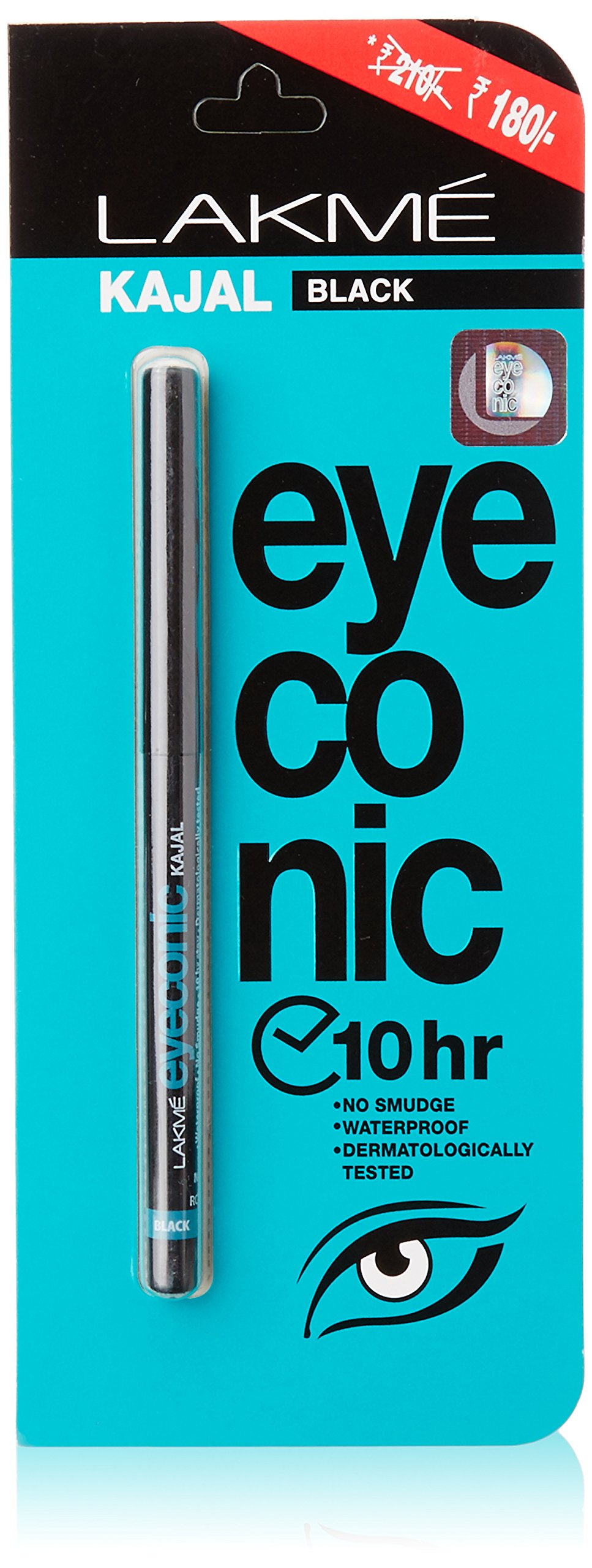Lakme Eyeconic Kajal, Black, 0.35g (Rs 30 Off) product image