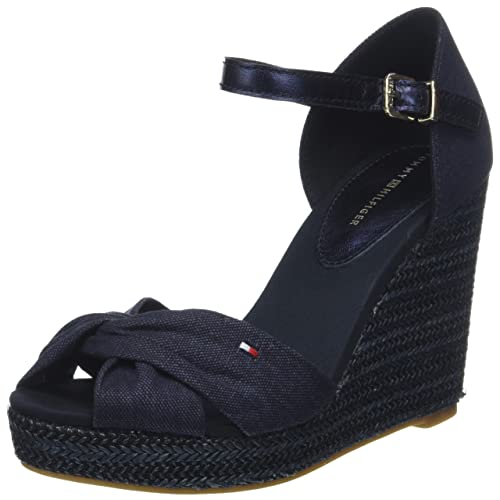 Iconic Elba Basic Closed Toe, Alpargata para Mujer, Azul (Midnight 403), 40 EU Tommy Hilfiger
